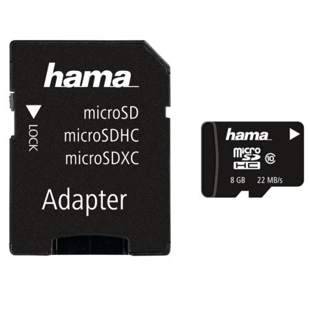 HAMA - Micro SD minnekort 8 GB